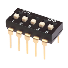 Dip Switch Straight Type 25mA, 24VDC Pin spacing 2.54 mm 8-pole in tube or tape-and-reel packaging