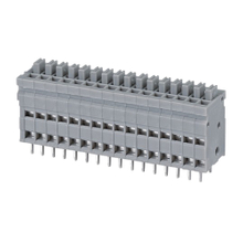 Screwless terminal blocks Push-button 1.0 mm² Pin spacing 2.54 mm 16-pole PCB Connector