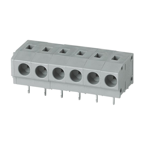Screwless terminal blocks Push-button 1.5 mm² Pin spacing 10.00 mm 6-pole PCB Connector
