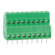 Euro terminal blocks Rising/Lift type 1.5mm² Pin spacing 3.50/3.81mm 2*9-pole PCB connector