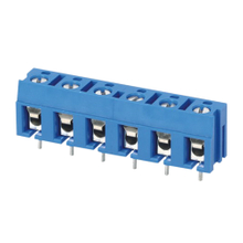 Euro terminal blocks Spring type 2.5mm² Pin spacing 7.50mm 6-pole; PCB connector